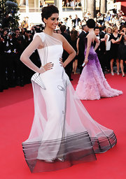 Sonam looked like an exquisite art piece in a structured organza gown at the Cannes Film Festival.