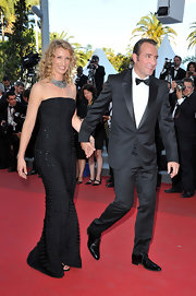 Alexandra was a beauty at the Cannes Film Festival in a strapless black textured evening gown.