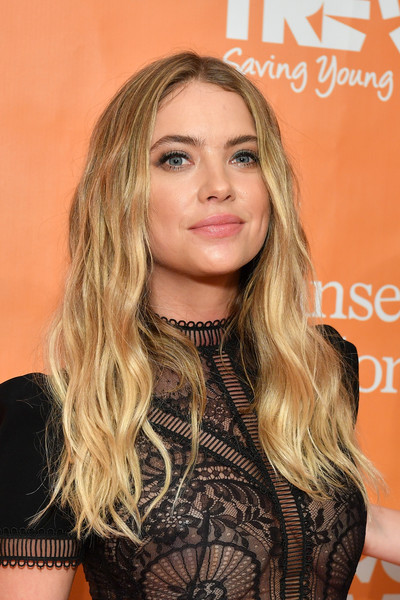 Ashley Benson Long Wavy Cut [trevorlive new york,hair,face,blond,hairstyle,eyebrow,long hair,beauty,brown hair,lip,chin,gala,trevorlive new york gala,cipriani wall street,new york city]