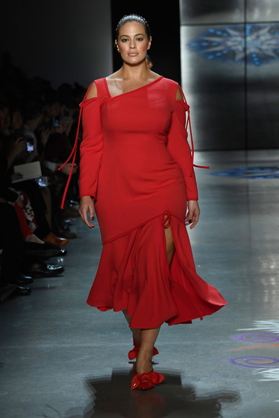Ashley Graham Cutout Dress [shows,the shows,fashion model,catwalk,runway,fashion,fashion show,shoulder,dress,fashion design,joint,shoe,prabal gurung,ashley graham,gallery i,prabal gurung - runway,runway,new york city,spring studios,new york fashion week]