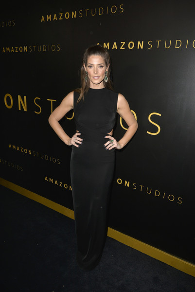 Ashley Greene Cutout Dress [dress,clothing,little black dress,shoulder,fashion,cocktail dress,premiere,carpet,red carpet,formal wear,ashley greene,beverly hills,california,the beverly hilton hotel,amazon studios golden globes,party,arrivals,little black dress,dress,celebrity,fashion,skirt,clothing,trousers,suspenders,lookbook,gown]