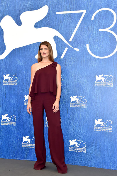 Ashley Greene One-Shoulder Top