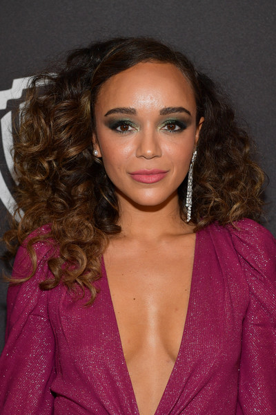 Ashley Madekwe Long Curls [hair,hairstyle,face,eyebrow,lip,beauty,brown hair,long hair,blond,chin,ashley madekwe,beverly hills,california,the beverly hilton hotel,instyle,red carpet,warner bros. 76th annual golden globe awards,warner bros. 76th annual golden globe awards post-party]