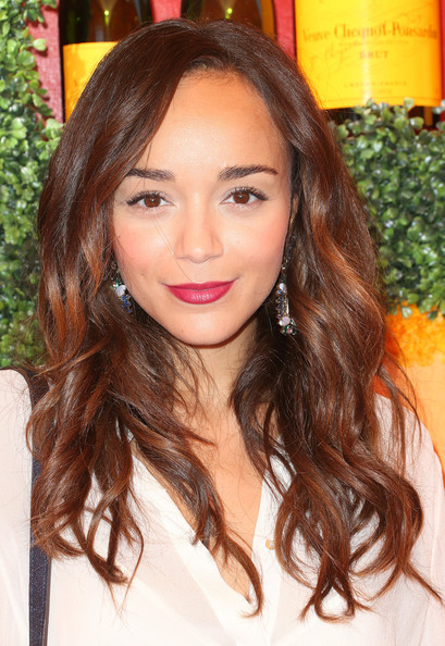 Ashley Madekwe Long Wavy Cut [hair,face,hairstyle,eyebrow,hair coloring,brown hair,long hair,layered hair,beauty,lip,arrivals,ashley madekwe,los angeles,pacific palisades,california,will rogers state historic park,veuve clicquot polo classic]