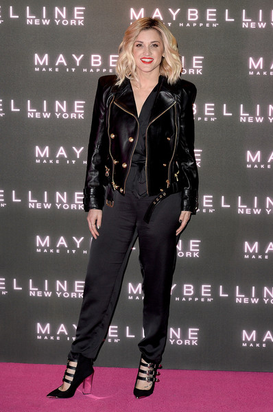 Ashley Roberts Pumps [maybelline bring on the night party,bring on the night party,clothing,leather,premiere,carpet,jacket,outerwear,flooring,event,suit,performance,ashley roberts,london,united kingdom,maybelline]