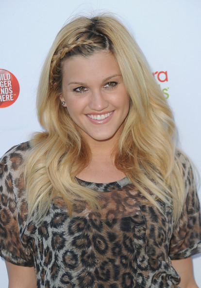 Ashley Roberts Long Braided Hairstyle