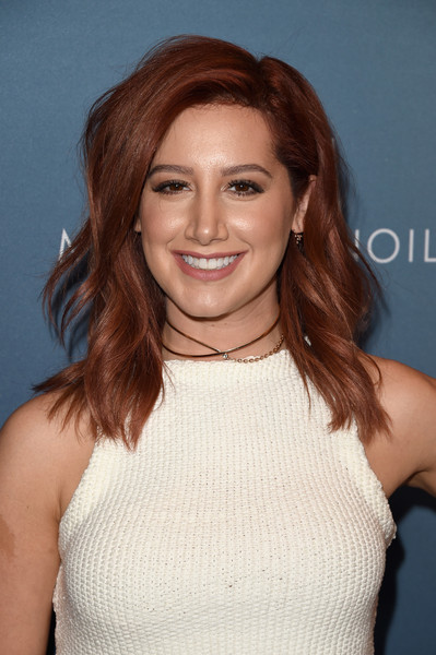 Ashley Tisdale Medium Wavy Cut [hair,face,hairstyle,eyebrow,lip,beauty,brown hair,chin,shoulder,hair coloring,power of women luncheon,variety,beverly hills,california,beverly wilshire four seasons hotel,ashley tisdale]