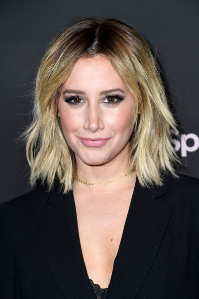 Ashley Tisdale Shag [best new artist 2019,hair,face,hairstyle,blond,eyebrow,chin,layered hair,long hair,lip,brown hair,spotify,ashley tisdale,california,los angeles,hammer museum,red carpet,event]
