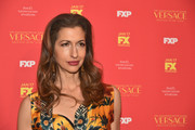 Alysia Reiner styled her hair with curly ends for the New York screening of 'The Assassination of Gianni Versace: American Crime Story.'