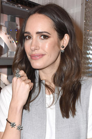Louise Roe looked lovely with her boho waves at the Atelier Swarovski awards season celebration.