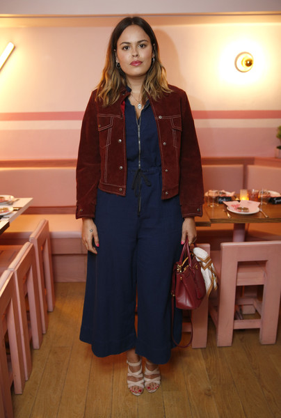 Atlanta de Cadenet Jumpsuit [clothing,fashion,outerwear,denim,jeans,room,textile,jacket,fashion design,trousers,brad goreski,maria hatzistefanis,host,atlanta de cadenet taylor,vip dinner,new york city,rodial]