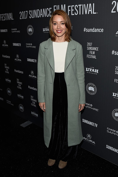 Aubrey Plaza Wool Coat