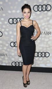 Jessica Parker Kennedy showed off her svelte figure in a tight-fitting LBD during the Emmy kickoff party.