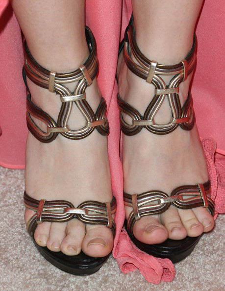 Stef Dawson chose a pair of snazzy gladiator heels for the Emmy kickoff party.