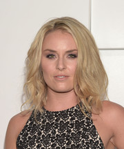 Lindsey Vonn looked stylish with her teased waves during Audi's celebration of Emmys week.
