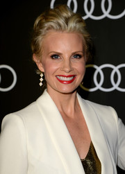 Monica Potter wore a gorgeous tousled updo to the Golden Globes Weekend celebration.