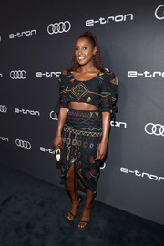Issa Rae paired her top with a matching pencil skirt.