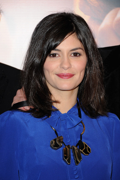 Audrey Tautou Medium Layered Cut
