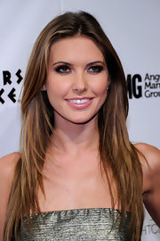 Audrina showed off her layered long cut at Pure nightclub in Las Vegas.
