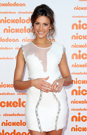 Rachael Finch showed off a white sheer inset dress while hitting the Nickelodeon Awards.