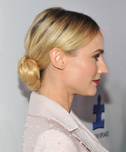 Diane Kruger styled her hair in a beautiful chignon for the Autism Speaks' Blue Jean Ball.