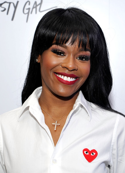 Azealia Banks Long Straight Cut with Bangs