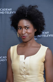 Kara Miller kept it natural with this Afro at the BAFTA LA garden party.