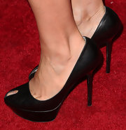 Julia Louis-Dreyfus attended the BAFTA LA TV Tea wearing a stylish pair of black platform peep-toes.