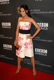 Kerry Washington looked oh-so-pretty in a strapless floral dress by Giambattista Valli during the BAFTA LA TV Tea.
