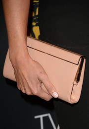 Cat Deeley topped off her ensemble with a simple yet chic pink leather clutch when she attended the BAFTA LA TV Tea.