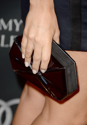 Ashley Madekwe accessorized with an elegant hard-case clutch when she attended the BAFTA LA TV Tea.