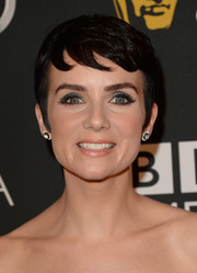 Victoria Summer looked adorable with her pixie during the BAFTA LA TV Tea.