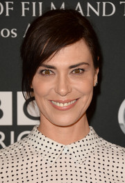 Michelle Forbes sported a ponytail with side-swept bangs when she attended the BAFTA LA TV Tea.