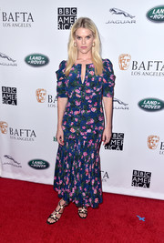 Alice Eve kept it modest in an ankle-length floral dress at the BAFTA Los Angeles + BBC America TV Tea Party.