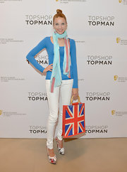 Summer Watson chose a pair of skinny white pants for her sleek and casual look at a BAFTA Event in LA.
