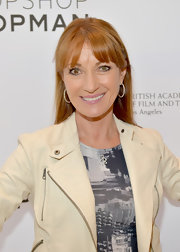 Jane Seymour showed off her strawberry blonde locks with this stylish straight 'do.