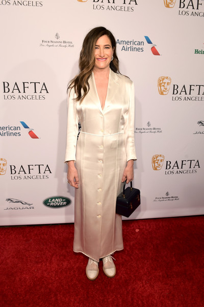 Kathryn Hahn went for quirky styling with a pair of white oxfords by Nicholas Kirkwood.