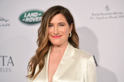 Kathryn Hahn sported her signature long feathery waves at the BAFTA Los Angeles Tea Party.