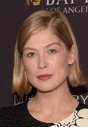 Rosamund Pike kept it casual with this side-parted straight style at the BAFTA Los Angeles tea party.