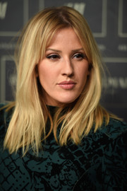 Ellie Goulding wore an edgy straight 'do with center-parted bangs to the Balmain x H&M collection launch.