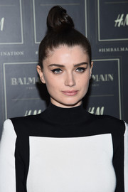 Eve Hewson attended the Balmain x H&M collection launch wearing a cool top knot.