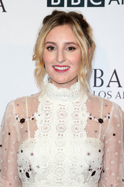 Laura Carmichael attended the BAFTA Los Angeles TV Tea Party sporting a messy updo.