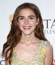 Kiernan Shipka looked pretty with her loose wavy hairstyle at the BAFTA Los Angeles TV tea party.
