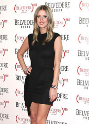 Nicky Hilton attended the Belvedere RED Special Edition Bottle Benefit launch party wearing a sterling silver, black enamel and cubic zirconia cuff.