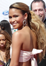Cassie showed off her honey blonde locks while walking the red carpet at the BET Awards.