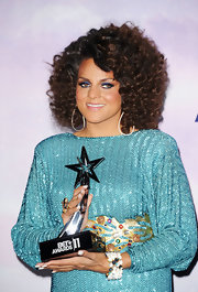 Marsha Ambrosius' went all out with the sparkles at the 2011 BET Awards, wearing a glittery dress and a beaded cuff bracelet.