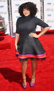 Marsha Ambrosius' lavender peep-toes added a charming touch to her 2012 BET Awards ensemble.