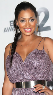 La La Anthony complemented her beaded jumpsuit with a pair of sterling dangle earrings for a totally sparkly look during the BET Awards.