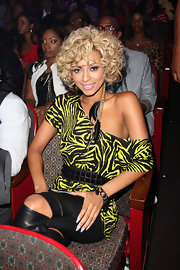 Keri Hilson showed off her short curls while sitting front row at the BET Awards.