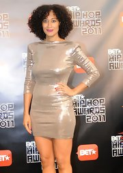 Tracee Ellis Ross showed off her inner diva in a sexy silver minidress at the BET Hip Hop Awards.